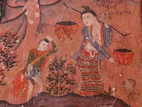 Northern-style mural paintings at Wat Phumin, Travel to Nan